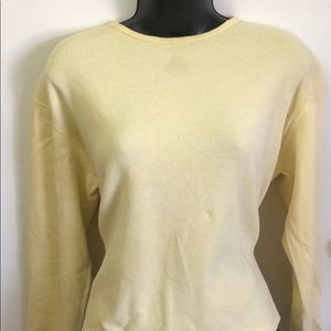 Women's size medium yellow thermal T Sonoma brand